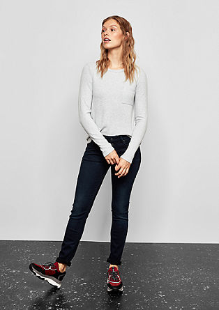 Catie Slim: jeans with a button placket from s.Oliver