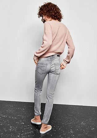Sadie Superskinny: sive raztegljive jeans hlače