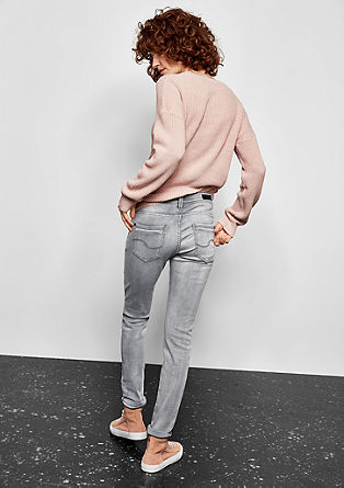 Sadie Superskinny: Graue Stretchjeans