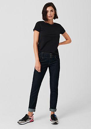 Catie Slim: jeans z gumbi