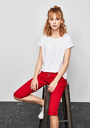 Catie Slim: Capri jeans with button fly from s.Oliver