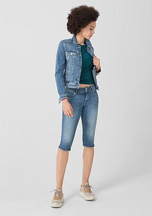 Catie slim: capri-jeans met stretch