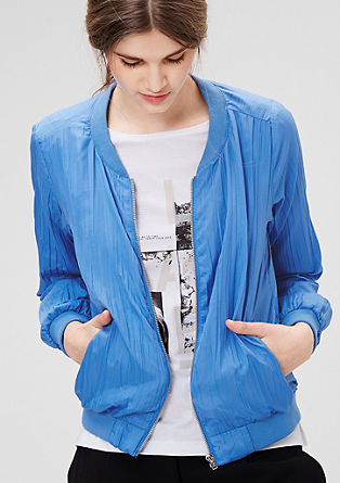 Pleated bomber jacket from s.Oliver