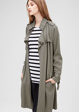 Trenchcoat met watervalrevers
