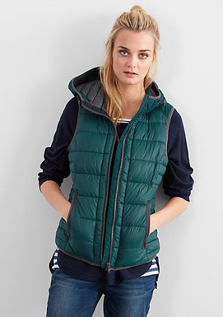 Padded body warmer with contrasts from s.Oliver
