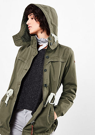 Casual parka with contrasts from s.Oliver