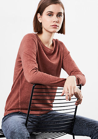 Garment-dyed trui
