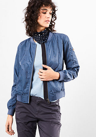 Bomber jacket with polka dots from s.Oliver