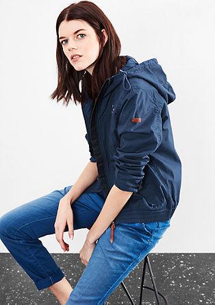 Blouson-Jacke aus Popeline