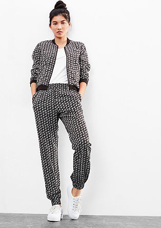Tracksuit bottoms with an all-over print from s.Oliver