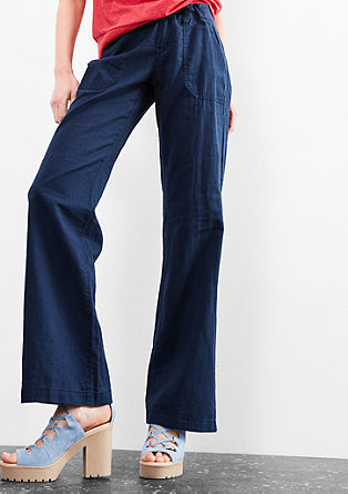 Abby Wide: lightweight linen trousers from s.Oliver