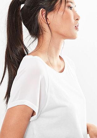 O-Shape-Shirt mit Blusen-Details