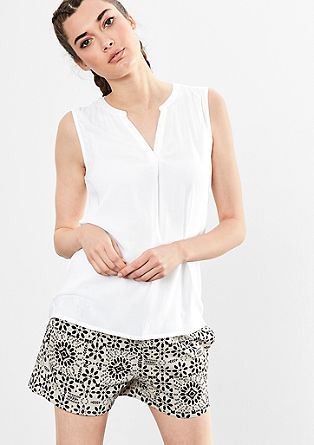 Top van luchtige viscose