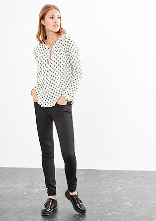 Viscose blouse with an all-over pattern from s.Oliver
