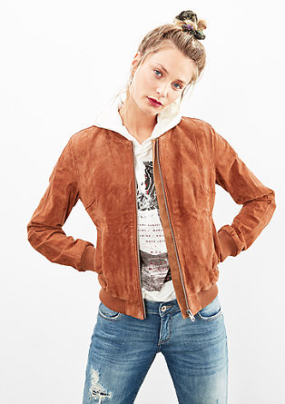 Suede bomber jacket from s.Oliver
