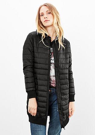 Hedvábně matný prošívaná kabát