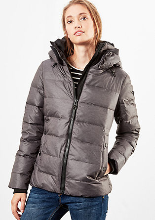 Down jacket with plush details from s.Oliver