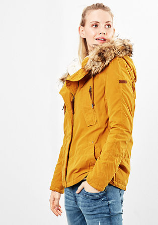 Winter jacket with plush lining from s.Oliver