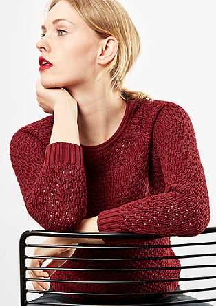 Jumper with openwork knit pattern from s.Oliver