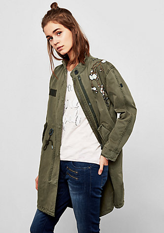 Parka mit Embroidery-Artworks
