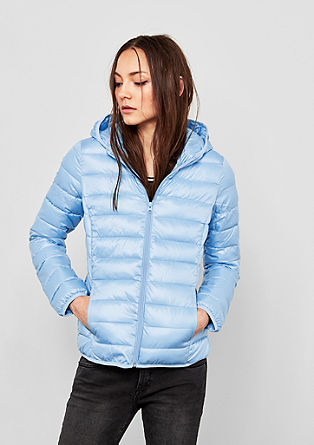 Quilted jacket with a hood from s.Oliver