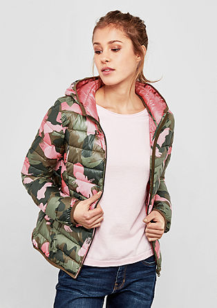Print-Jacke in Light Down-Optik