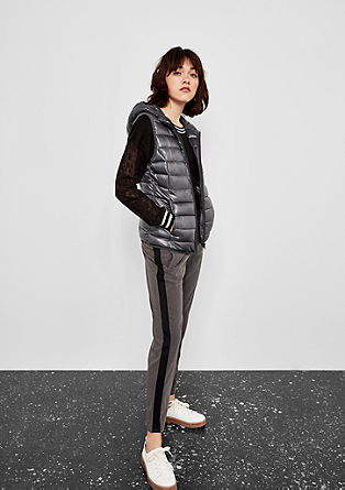 Quilted body warmer with a hood from s.Oliver