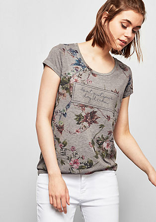 Patterned statement T-shirt from s.Oliver