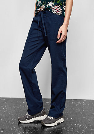 Abby Wide: Linen blend trousers from s.Oliver