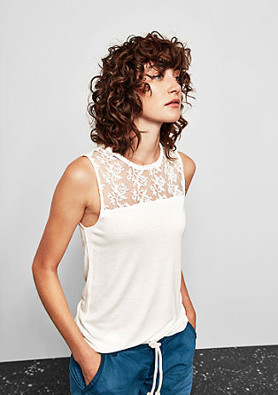 Top with mesh lace from s.Oliver