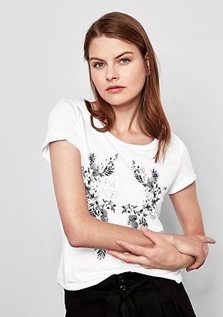 T-shirt met folieprint
