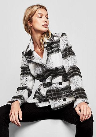 Veste à carreaux en laine mélangée de s.Oliver