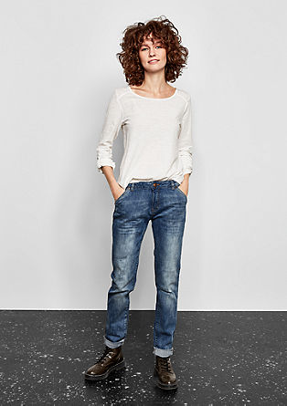 Megan girlfriend: jeans in used look