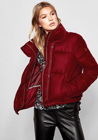 Quilted jacket in a velvet finish de s.Oliver