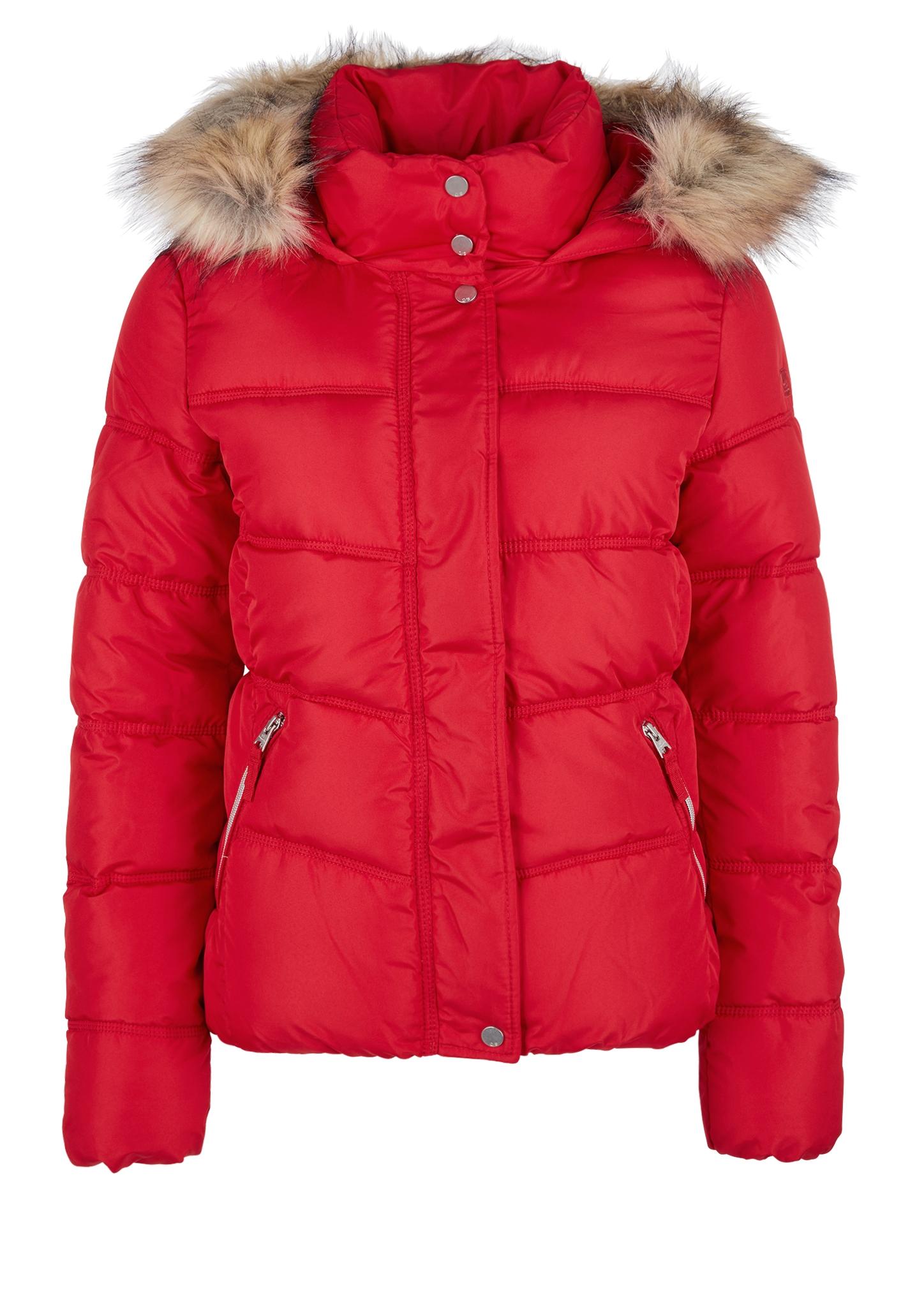 Outdoor-Jacke | Sportbekleidung > Sportjacken > Outdoorjacken | Rot | Obermaterial 100% polyester| kunstpelz 80% polyacryl -  20% modacryl| futter 100% polyester| füllmaterial 100% polyester | Q/S designed by