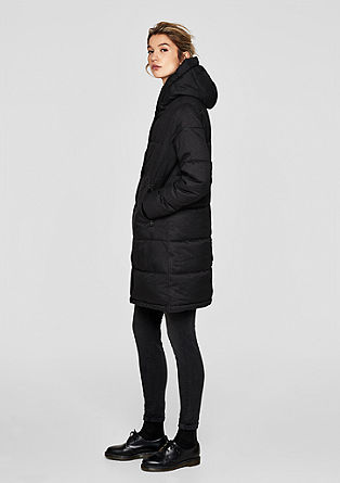 Warm quilted coat with hood from s.Oliver