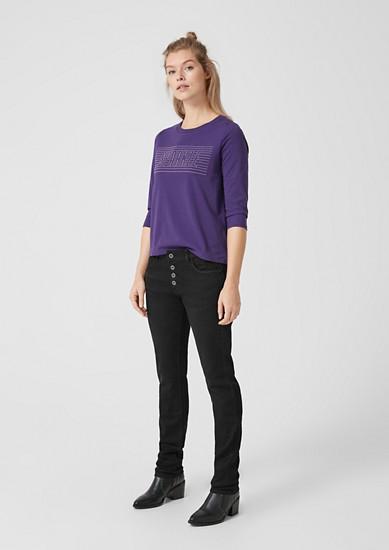 Megan girlfriend: jeans met een knoopsluiting