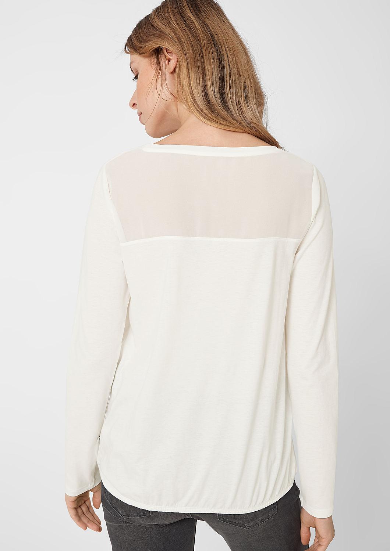 s.Oliver - Jerseyshirt mit Chiffon-Passe - 3