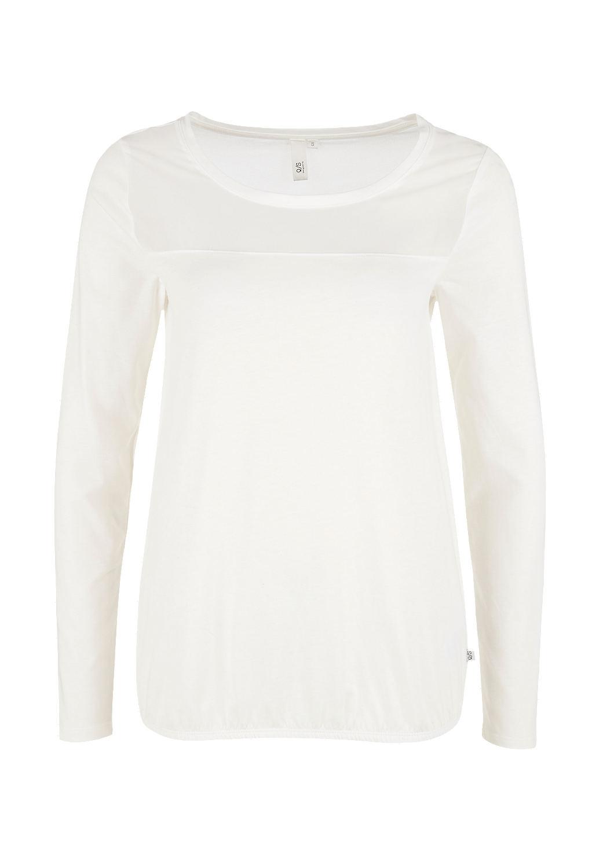 s.Oliver - Jerseyshirt mit Chiffon-Passe - 4