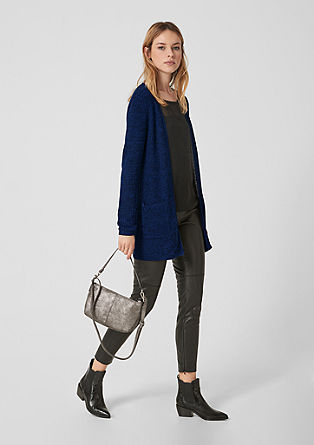 Open-fronted melange cardigan from s.Oliver