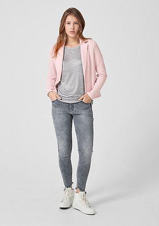 Short sweatshirt blazer from s.Oliver