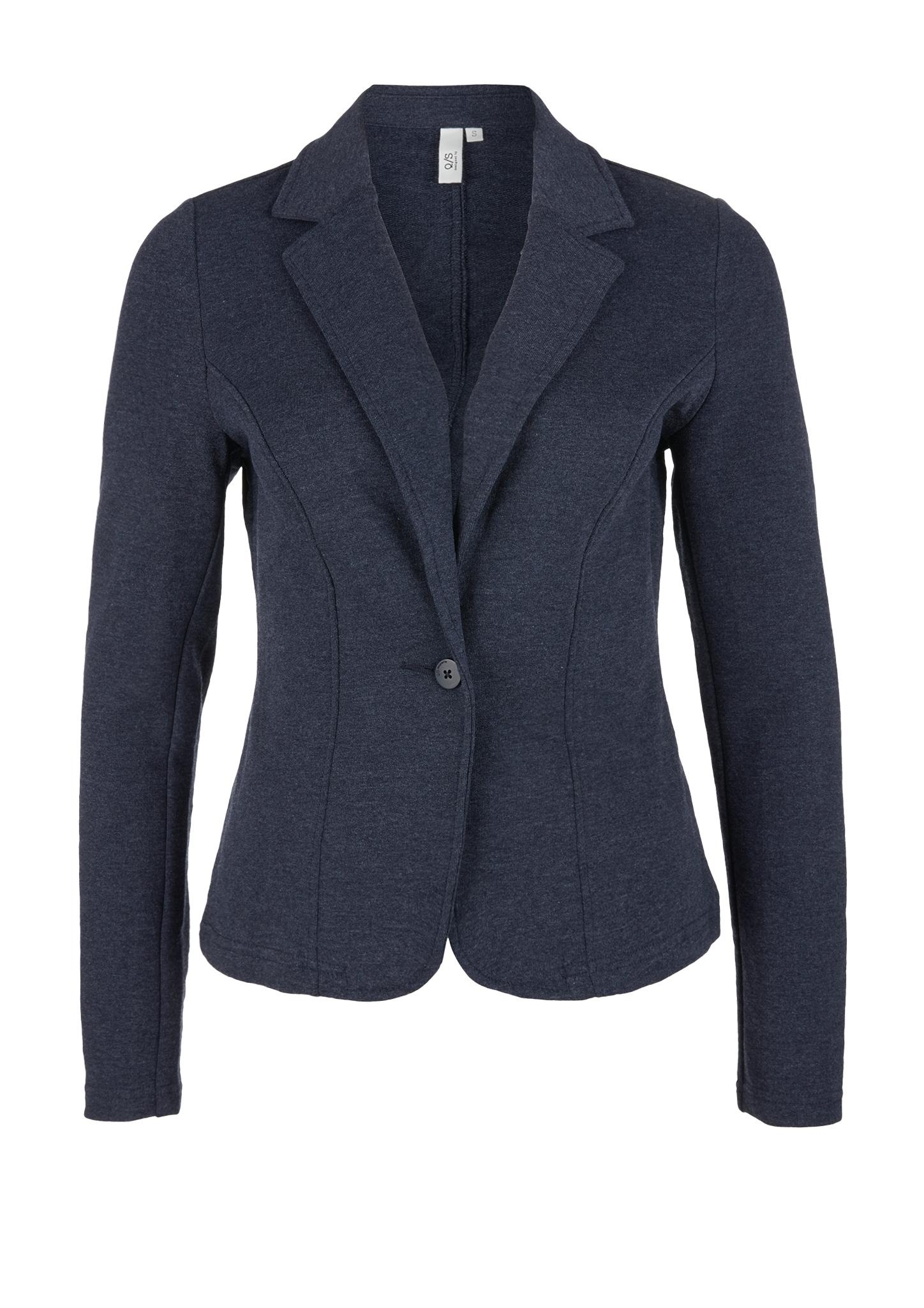 Sweatblazer | Bekleidung > Blazer > Sweatblazer | Blau | 60% baumwolle -  40% polyester | Q/S designed by