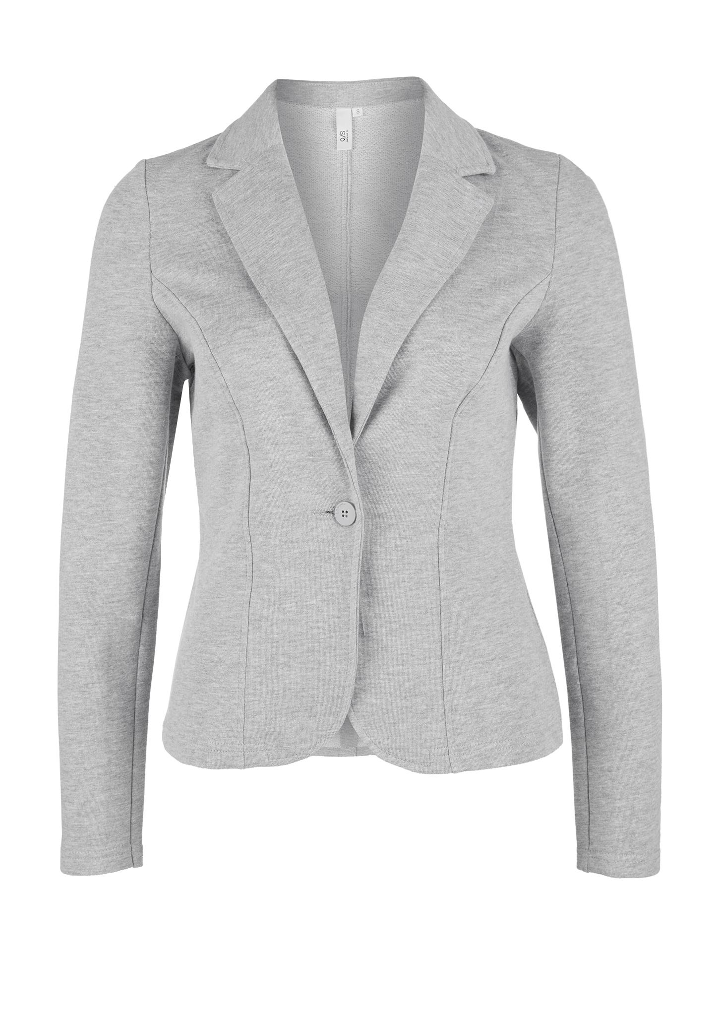 Sweatblazer | Bekleidung > Blazer > Sweatblazer | Grau | 60% baumwolle -  40% polyester | Q/S designed by