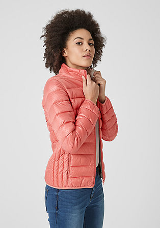 Quilted jacket with polka dots from s.Oliver
