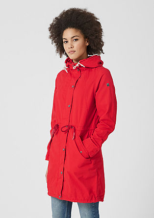 Cotton twill parka from s.Oliver