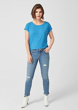 Oversize-Shirt aus Viskosejersey
