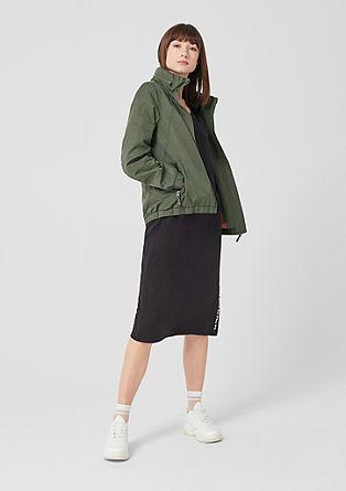 Sportieve jas met opstaande kraag
