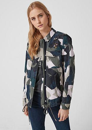 Veste camouflage à motif artistique de s.Oliver