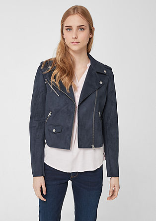 Biker jacket with unfinished edges from s.Oliver