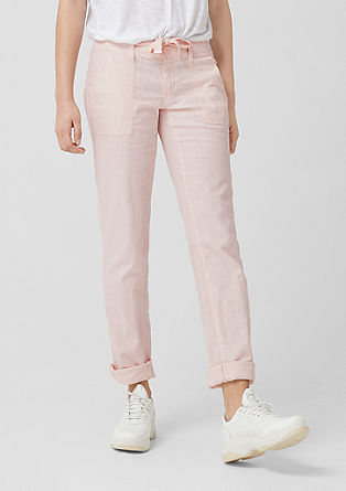 Abby Regular: Linen trousers from s.Oliver